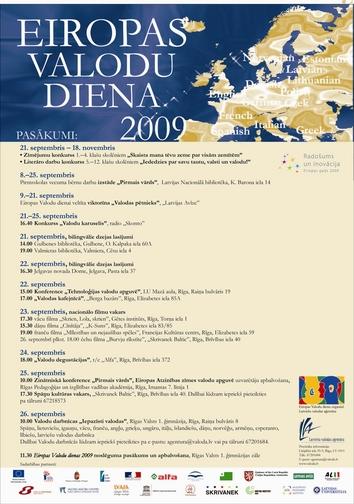 Eiropas valodu diena 2009