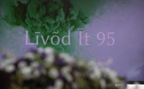 Līvõd Īt 95. sindizpǟva pivāstimi Lețmō rovbiblioteks