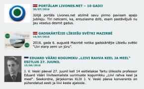 Portālam Livones.net aprit 15 gadu